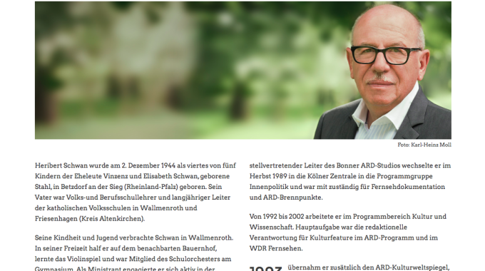 Webseite für Dr. Heribert Schwan