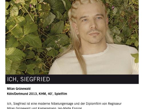 Diplomfilm Ich, Siegfried läuft beim Kurzfilmfestival Unlimited in Köln